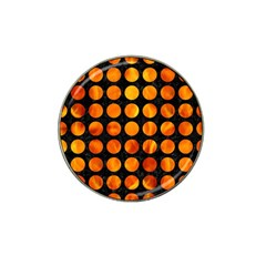 Circles1 Black Marble & Fire Hat Clip Ball Marker by trendistuff