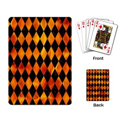 Diamond1 Black Marble & Fire Playing Card by trendistuff