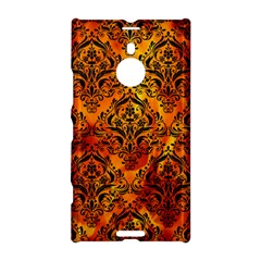 Damask1 Black Marble & Fire (r) Nokia Lumia 1520 by trendistuff