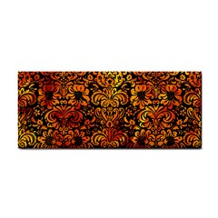 Damask2 Black Marble & Fire Cosmetic Storage Cases by trendistuff