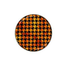 Houndstooth1 Black Marble & Fire Hat Clip Ball Marker (10 Pack) by trendistuff