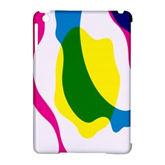 Anatomicalrainbow Wave Chevron Pink Blue Yellow Green Apple Ipad Mini Hardshell Case (compatible With Smart Cover) by Mariart