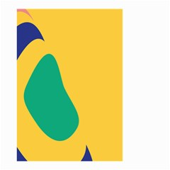 Yellow Green Blue Small Garden Flag (two Sides) by Mariart