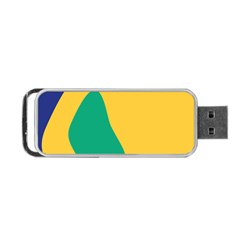 Yellow Green Blue Portable Usb Flash (two Sides) by Mariart