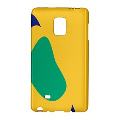 Yellow Green Blue Galaxy Note Edge by Mariart