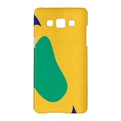 Yellow Green Blue Samsung Galaxy A5 Hardshell Case  by Mariart