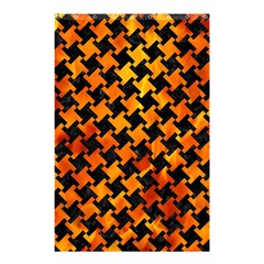 Houndstooth2 Black Marble & Fire Shower Curtain 48  X 72  (small)  by trendistuff