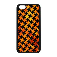 Houndstooth2 Black Marble & Fire Apple Iphone 5c Seamless Case (black) by trendistuff