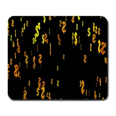 Animated Falling Spinning Shining 3d Golden Dollar Signs Against Transparent Large Mousepads by Mariart
