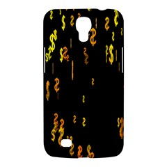 Animated Falling Spinning Shining 3d Golden Dollar Signs Against Transparent Samsung Galaxy Mega 6 3  I9200 Hardshell Case by Mariart