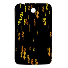 Animated Falling Spinning Shining 3d Golden Dollar Signs Against Transparent Samsung Galaxy Tab 3 (7 ) P3200 Hardshell Case  by Mariart