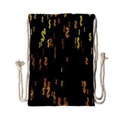 Animated Falling Spinning Shining 3d Golden Dollar Signs Against Transparent Drawstring Bag (small) by Mariart