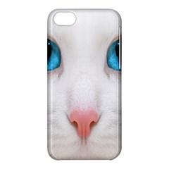 Beautiful White Face Cat Animals Blue Eye Apple Iphone 5c Hardshell Case by Mariart