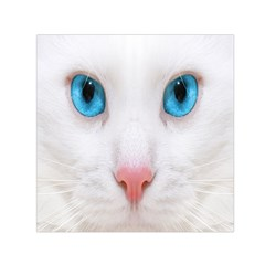Beautiful White Face Cat Animals Blue Eye Small Satin Scarf (square) by Mariart