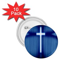 Blue Cross Christian 1 75  Buttons (10 Pack) by Mariart