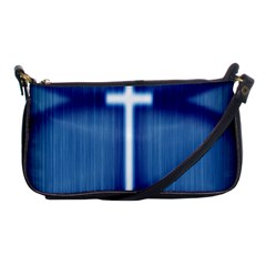Blue Cross Christian Shoulder Clutch Bags by Mariart