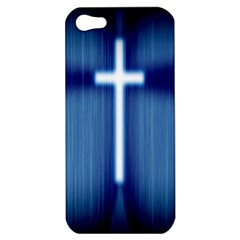 Blue Cross Christian Apple Iphone 5 Hardshell Case by Mariart