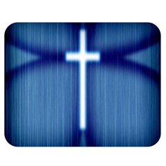 Blue Cross Christian Double Sided Flano Blanket (medium)  by Mariart