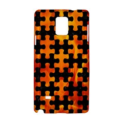 Puzzle1 Black Marble & Fire Samsung Galaxy Note 4 Hardshell Case by trendistuff