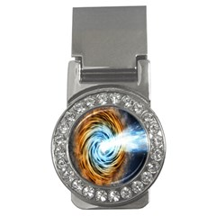 A Blazar Jet In The Middle Galaxy Appear Especially Bright Money Clips (cz)  by Mariart