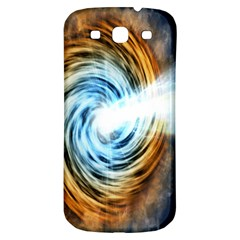 A Blazar Jet In The Middle Galaxy Appear Especially Bright Samsung Galaxy S3 S Iii Classic Hardshell Back Case by Mariart