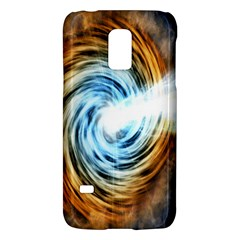 A Blazar Jet In The Middle Galaxy Appear Especially Bright Galaxy S5 Mini by Mariart