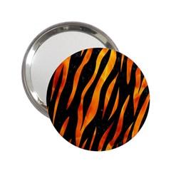 Skin3 Black Marble & Fire 2 25  Handbag Mirrors by trendistuff