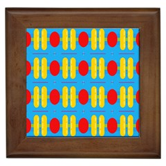 Ovals And Stripes Pattern                            Framed Tile by LalyLauraFLM