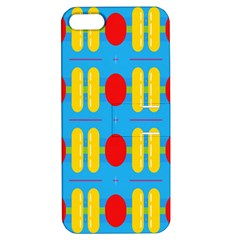 Ovals And Stripes Pattern                      Apple Iphone 4/4s Hardshell Case With Stand by LalyLauraFLM