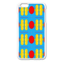 Ovals And Stripes Pattern                      Apple Iphone 6/6s Leather Folio Case by LalyLauraFLM