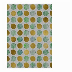 Green And Golden Dots Pattern                            Small Garden Flag by LalyLauraFLM
