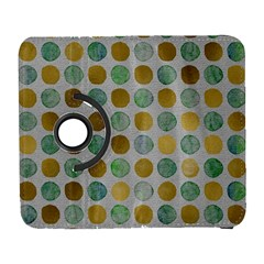 Green And Golden Dots Pattern                      Samsung Galaxy Note Ii Flip 360 Case by LalyLauraFLM