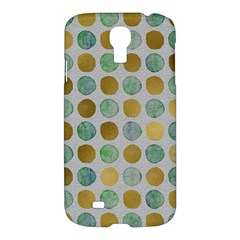 Green And Golden Dots Pattern                      Apple Ipad 3/4 Woven Pattern Leather Folio Case by LalyLauraFLM