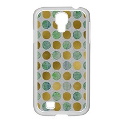 Green And Golden Dots Pattern                      Samsung Galaxy Note 2 Case (white) by LalyLauraFLM
