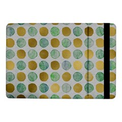 Green And Golden Dots Pattern                      Samsung Galaxy Tab Pro 8 4  Flip Case by LalyLauraFLM