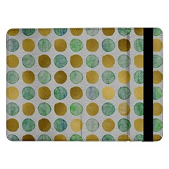 Green And Golden Dots Pattern                      Samsung Galaxy Tab Pro 10 1  Flip Case by LalyLauraFLM