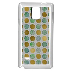 Green And Golden Dots Pattern                      Samsung Note 4 Hardshell Back Case by LalyLauraFLM