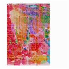 Colorful Watercolors Pattern                            Small Garden Flag by LalyLauraFLM