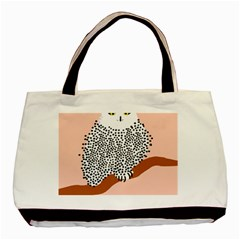Animals Bird Owl Pink Polka Dots Basic Tote Bag (two Sides) by Mariart
