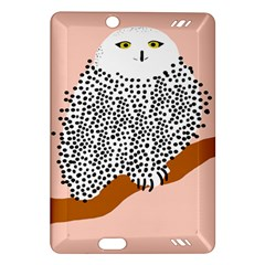 Animals Bird Owl Pink Polka Dots Amazon Kindle Fire Hd (2013) Hardshell Case by Mariart