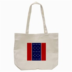 British American Flag Red Blue Star Tote Bag (cream) by Mariart