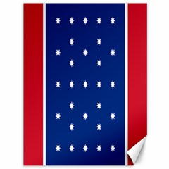 British American Flag Red Blue Star Canvas 36  X 48   by Mariart