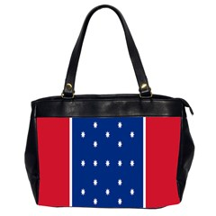 British American Flag Red Blue Star Office Handbags (2 Sides)  by Mariart