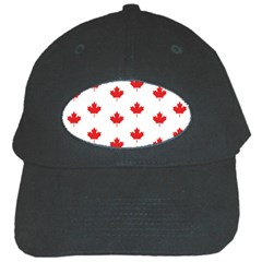 Canadian Maple Leaf Pattern Black Cap by Mariart