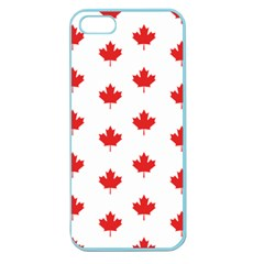 Canadian Maple Leaf Pattern Apple Seamless Iphone 5 Case (color) by Mariart