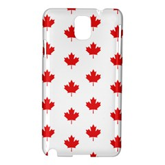 Canadian Maple Leaf Pattern Samsung Galaxy Note 3 N9005 Hardshell Case by Mariart