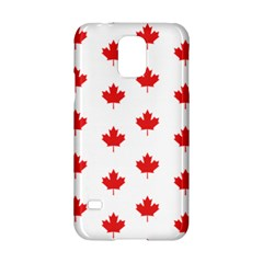 Canadian Maple Leaf Pattern Samsung Galaxy S5 Hardshell Case  by Mariart