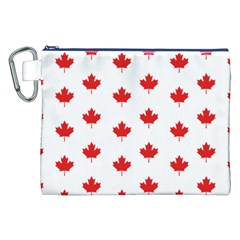 Canadian Maple Leaf Pattern Canvas Cosmetic Bag (xxl) by Mariart