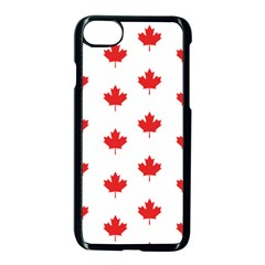 Canadian Maple Leaf Pattern Apple Iphone 7 Seamless Case (black) by Mariart