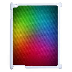Bright Lines Resolution Image Wallpaper Rainbow Apple Ipad 2 Case (white) by Mariart